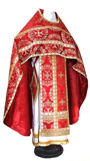 Russian Priest vestments - metallic brocade BG5 (red-gold)