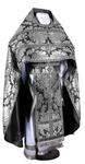 Russian Priest vestments - metallic brocade BG5 (black-silver)