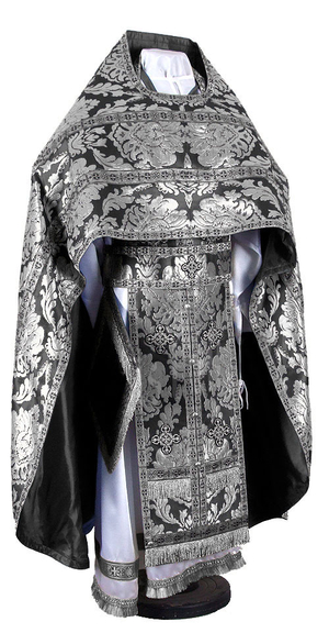 Russian Priest vestments - metallic brocade BG5 (black-silver)