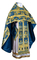Russian Priest vestments - metallic brocade BG6 (blue-gold) variant 1, Premium design