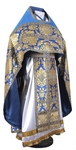 Russian Priest vestments - metallic brocade BG6 (blue-gold)