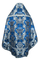 Russian Priest vestments - metallic brocade BG6 (blue-silver) back, Premium design