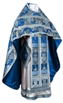Russian Priest vestments - metallic brocade BG6 (blue-silver)