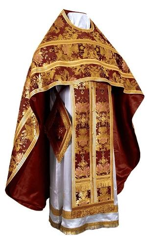 Russian Priest vestments - metallic brocade BG6 (claret-gold)
