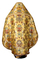 Russian Priest vestments - metallic brocade BG6 (yellow-claret-gold) back, Luxury design