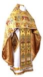 Russian Priest vestments - metallic brocade BG6 (yellow-claret-gold)