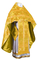 Russian Priest vestments - metallic brocade BG6 (yellow-gold) variant 3, Luxury design