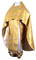 Russian Priest vestments - metallic brocade BG6 (yellow-gold) variant 1, Premium design