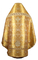 Russian Priest vestments - metallic brocade BG6 (yellow-gold) variant 1 back, Luxury design
