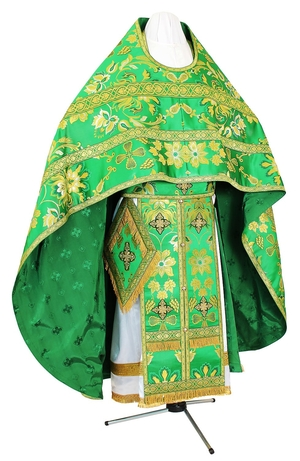Russian Priest vestments - metallic brocade BG6 (green-gold)