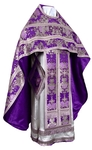 Russian Priest vestments - metallic brocade BG6 (violet-silver)
