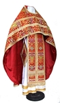 Russian Priest vestments - metallic brocade BG6 (red-gold)