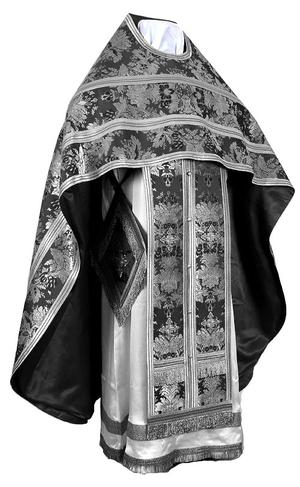 Russian Priest vestments - metallic brocade BG6 (black-silver)