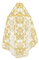 Russian Priest vestments - metallic brocade BG6 (white-gold) variant 1 back, Premium design