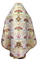 Russian Priest vestments - metallic brocade BG6 (white-gold) back, Premium design