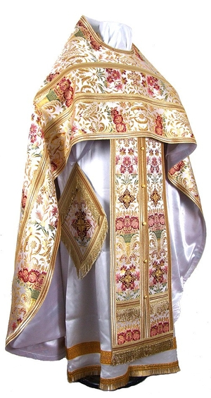 Russian Priest vestments - metallic brocade BG6 (white-gold)
