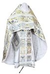 Russian Priest vestments - metallic brocade BG6 (white-silver)