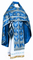 Russian Priest vestments - Chernigov rayon brocade S2 (blue-silver), Standard design