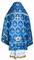 Russian Priest vestments - Chernigov rayon brocade S2 (blue-silver) back, Standard design