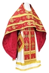 Russian Priest vestments - rayon brocade S2 (claret-gold)