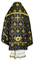 Russian Priest vestments - Chernigov rayon brocade S2 (black-gold) back, Standard design
