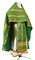 Russian Priest vestments - Solovki rayon brocade S2 (green-gold), Standard design