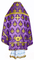 Russian Priest vestments - Chernigov rayon brocade S2 (violet-gold) back, Standard design