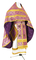 Russian Priest vestments - Zlatoust rayon brocade S2 (violet-gold), Economy design