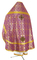 Russian Priest vestments - Zlatoust rayon brocade S2 (violet-gold) back, Economy design