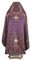 Russian Priest vestments - Ostrozh rayon brocade S2 (violet-gold) back, Standard design