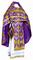 Russian Priest vestments - Chernigov rayon brocade S2 (violet-gold), Standard design