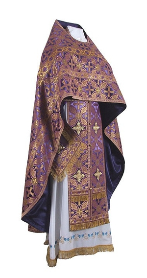 Russian Priest vestments - rayon brocade S2 (violet-gold)
