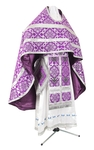 Russian Priest vestments - rayon brocade S2 (violet-silver)