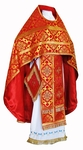 Russian Priest vestments - rayon brocade S2 (red-gold)