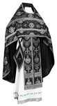 Russian Priest vestments - rayon brocade S2 (black-silver)