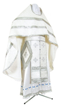 Russian Priest vestments - rayon brocade S2 (white-silver)