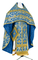 Russian Priest vestments - Koursk rayon brocade S3 (blue-gold), Economy design