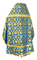 Russian Priest vestments - Loza rayon brocade S3 (blue-gold) back, Economy design