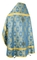 Russian Priest vestments - Seraphims rayon brocade S3 (blue-gold) back, Standard design
