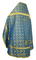 Russian Priest vestments - Old Greek rayon brocade S3 (blue-gold) back, Standard design