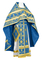 Russian Priest vestments - Iveron rayon brocade S3 (blue-gold), Standard design