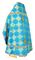 Russian Priest vestments - Kolomna rayon brocade S3 (blue-gold) back, Standard design