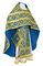 Russian Priest vestments - Nicholaev rayon brocade S3 (blue-gold), Standard design