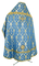 Russian Priest vestments - Korona rayon brocade S3 (blue-gold) back, Standard design