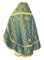 Russian Priest vestments - Nicholaev rayon brocade S3 (blue-gold) back, Standard design