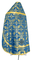 Russian Priest vestments - Koursk rayon brocade S3 (blue-gold) back, Economy design