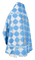 Russian Priest vestments - Kolomna rayon brocade S3 (blue-silver) back, Standard design