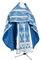 Russian Priest vestments - Vinograd rayon brocade S3 (blue-silver), Economy design