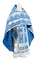 Russian Priest vestments - Polotsk rayon brocade S3 (blue-silver), Econom design