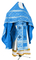 Russian Priest vestments - Ostrozh rayon brocade S3 (blue-silver), Economy design